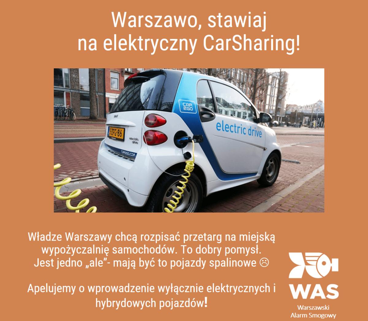Warszawo, stawiaj naelektryczny CarSharing!
