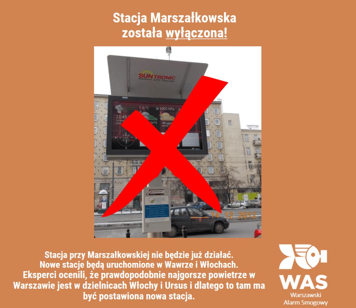 Wyłączenie stacji Marszałkowska