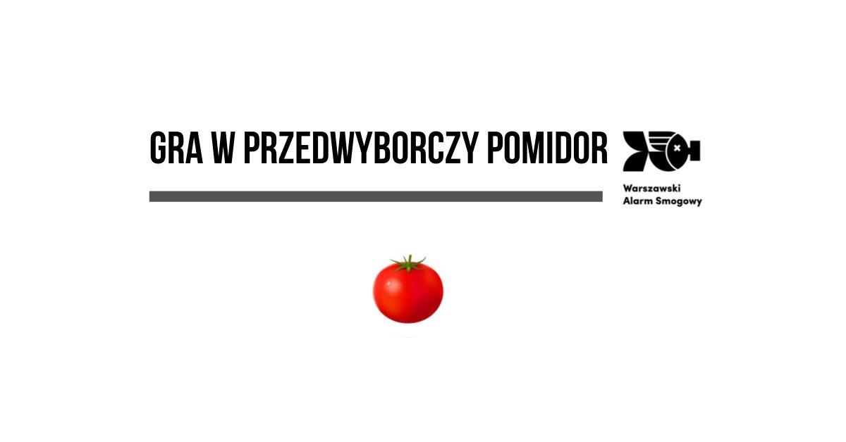 """Warszawski Alarm Smogowy pyta – politycy odpowiadają (niektórzy mówią """"pomidor"""")"""